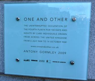 One and Other Plaque